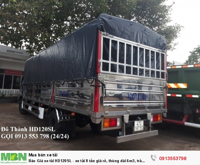 Xe tải Hyundai HD120SL 8 tấn thùng dài 6m3, trả trước 200tr, giao xe ngay