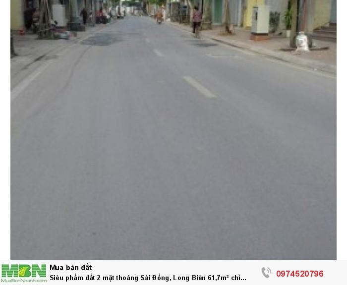 Siêu phẩm đất 2 mặt thoáng Sài Đồng, Long Biên 61,7m² chỉ 38tr/m².