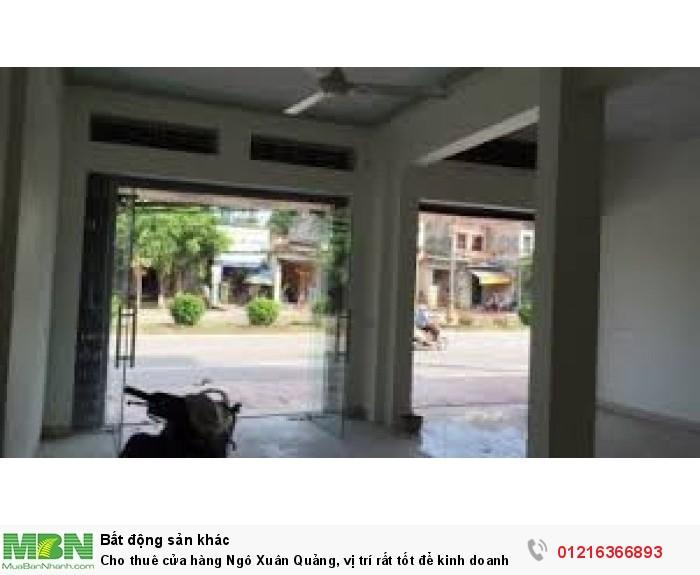 Cho thuê cửa hàng Ngô Xuân Quảng, vị trí rất tốt để kinh doanh, mặt tiền 8m