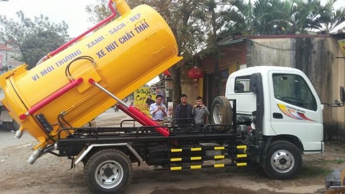 Xe tải hút chất thải 2 khổi giá rẻ tại tp hcm