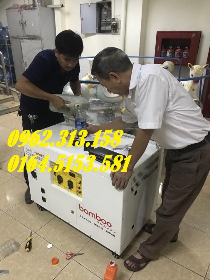 Máy phát điện chạy xăng 10kw Bamboo 12000ex chống ồn,tiêu thụ hết 1 lít/giờ3