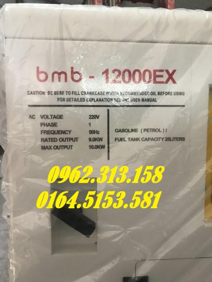 Máy phát điện chạy xăng 10kw Bamboo 12000ex chống ồn,tiêu thụ hết 1 lít/giờ2