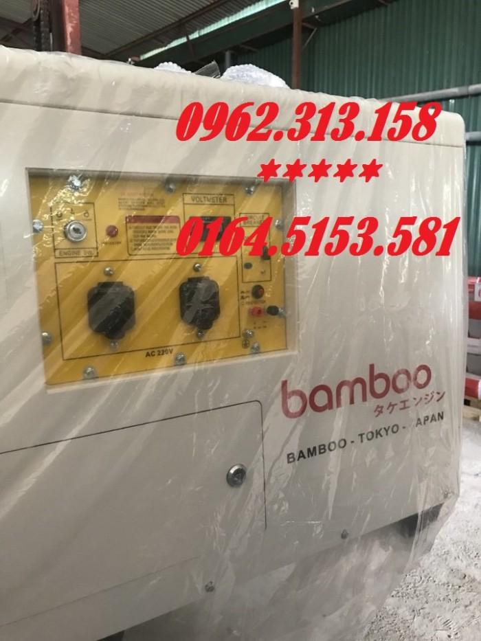 Máy phát điện chạy xăng 10kw Bamboo 12000ex chống ồn,tiêu thụ hết 1 lít/giờ1