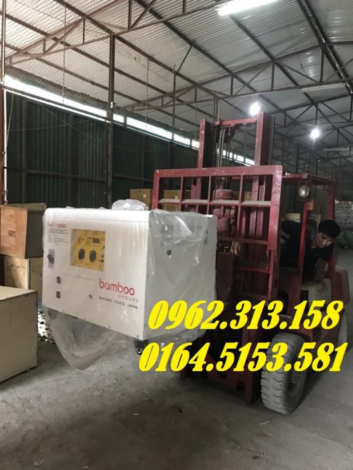 Máy phát điện chạy xăng 10kw Bamboo 12000ex chống ồn,tiêu thụ hết 1 lít/giờ0