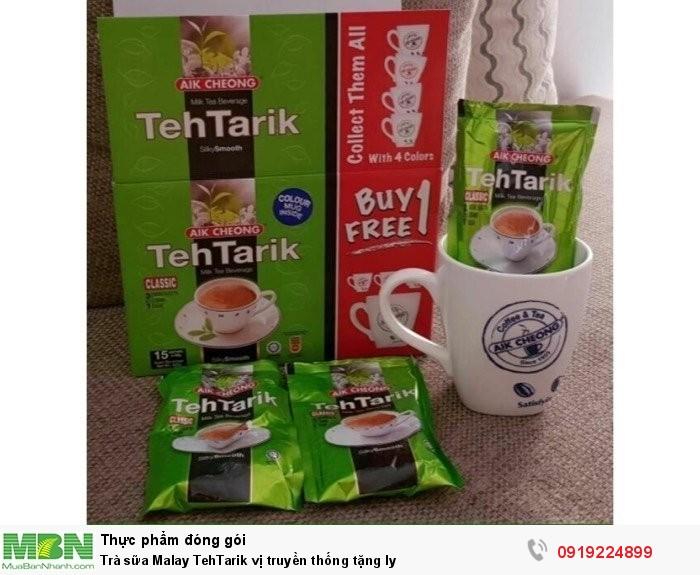 Trà sữa Malay TehTarik vị truyền thống tặng ly1