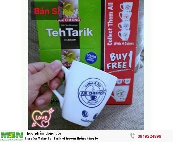 Trà sữa Malay TehTarik vị truyền thống tặng ly2