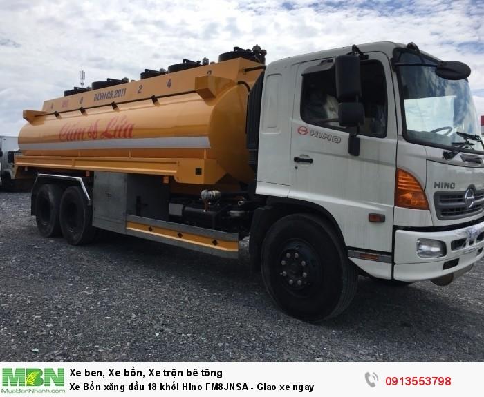 Xe Bồn xăng dầu 18 khối Hino FM8JNSA - Giao xe ngay