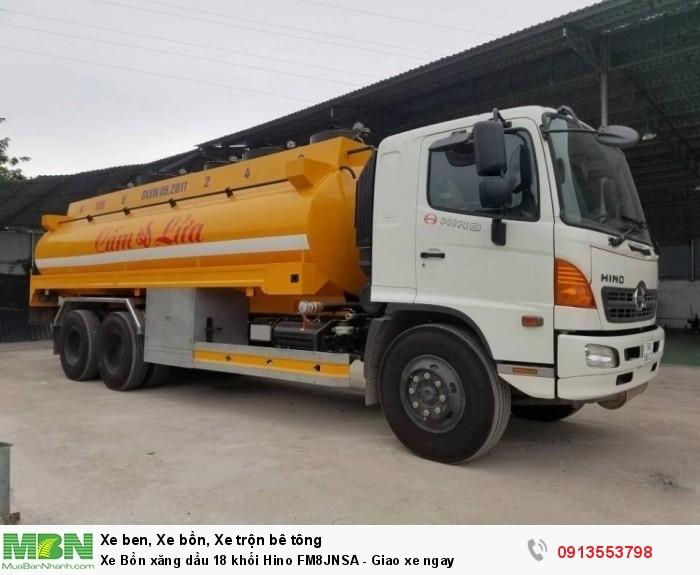 Xe Bồn xăng dầu 18 khối Hino FM8JNSA - Giao xe ngay - Gọi 0913553798 (24/24)