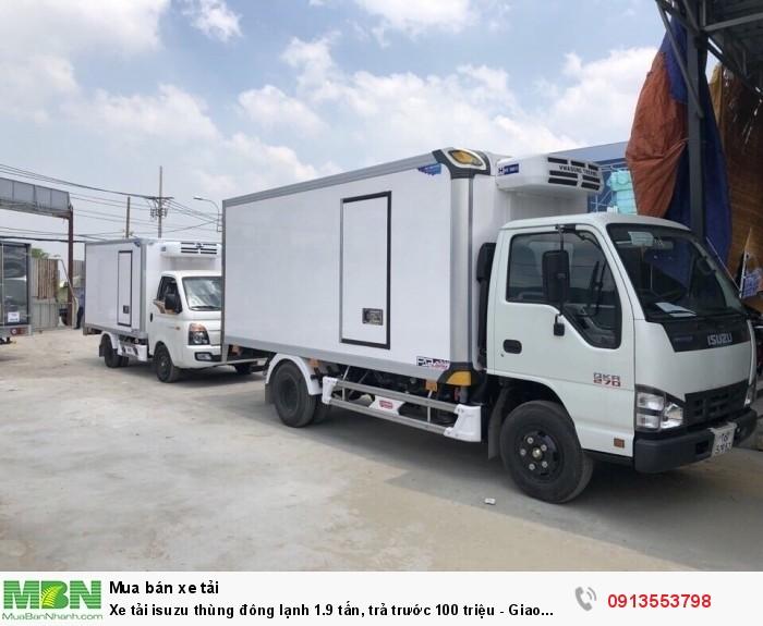 Xe tải isuzu thùng đông lạnh 1.9 tấn, trả trước 100 triệu - Giao xe ngay