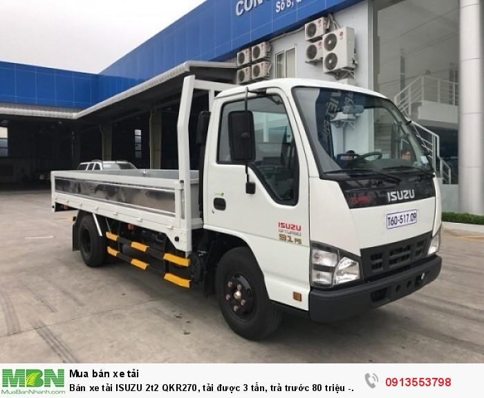 Bán xe tải ISUZU 2t2 QKR270, tải được 3 tấn - Giao xe ngay - Gọi 0913553798 (24/24)