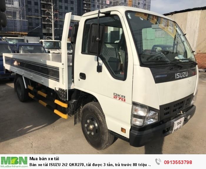 Bán xe tải ISUZU 2t2 QKR270, tải được 3 tấn, trả trước 80 triệu - Giao xe ngay - Gọi 0913553798 (24/24)