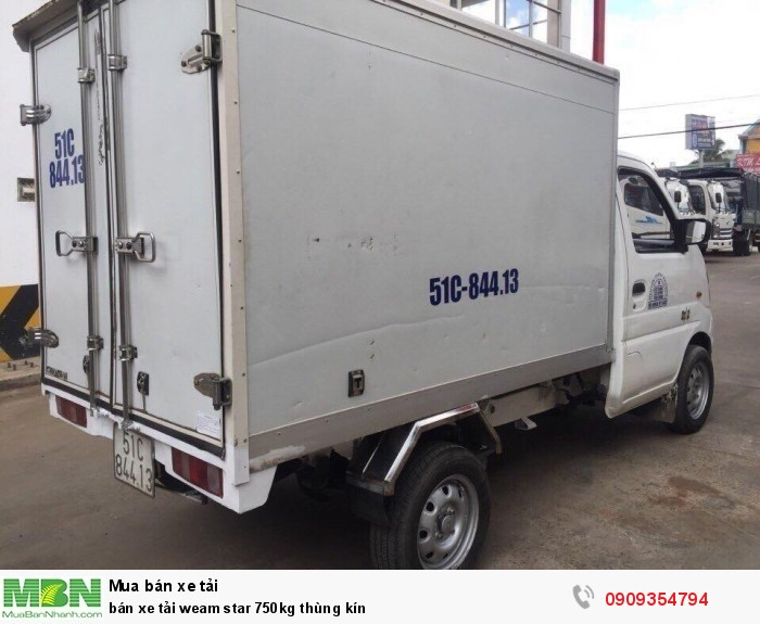 Bán xe tải Veam Star 750kg thùng kín 3