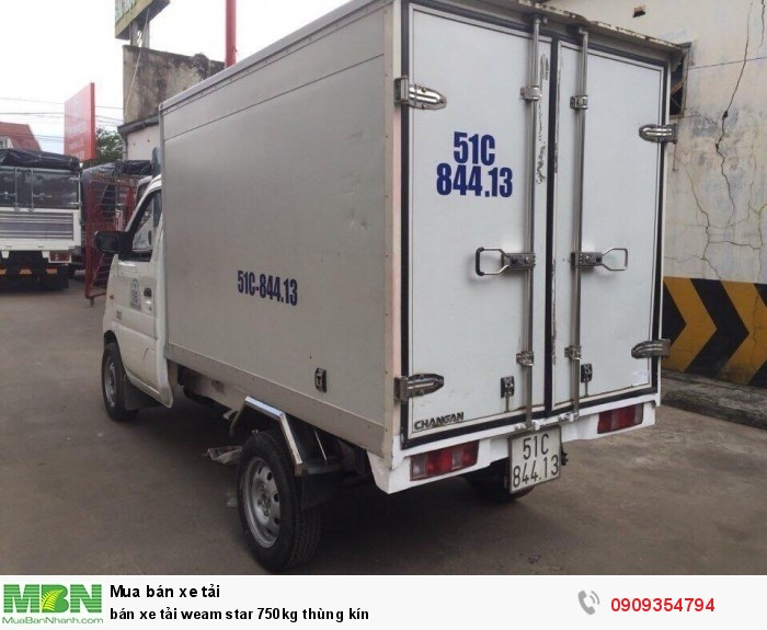 Bán xe tải Veam Star 750kg thùng kín 4