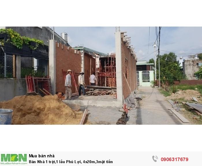 Bán Nhà 1 trệt,1 lầu Phú Lợi, 4x20m,3mặt tiền