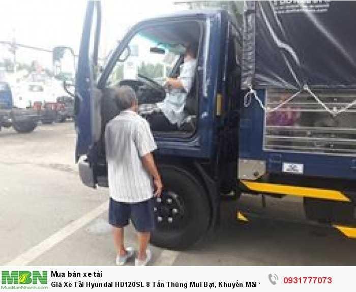 Xe tải Hyundai HD120SL 8 tấn - Tặng định vị GPS khi giao xe