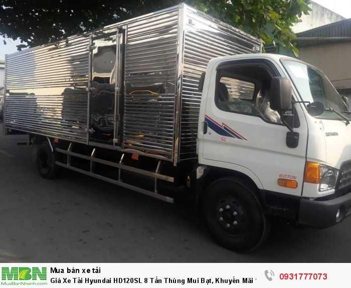 Xe tải Hyundai HD120SL 8 tấn - Đóng thùng theo yêu cầu khách hàng