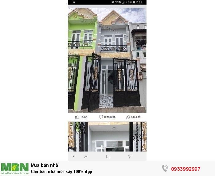 Cần bán nhà mới xây 100% đẹp