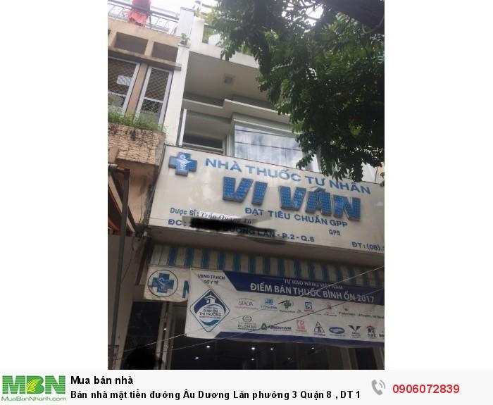 Bán nhà mặt tiền đường Âu Dương Lân phường 3 Quận 8 , DT 150m, giá 8.7 Tỷ