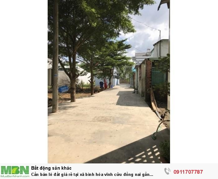 Cần Bán Lô Đất Giá Rẻ Tại Xã Bình Hòa Vĩnh Cửu Đồng Nai Gần Đường 768