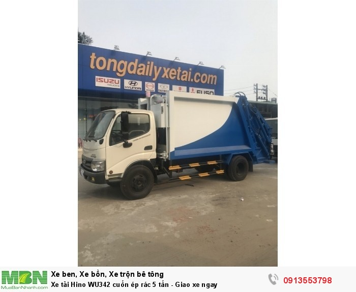 Bán xe tải Hino WU342 cuốn ép rác 5 tấn - Gọi 0913553798 (24/24)
