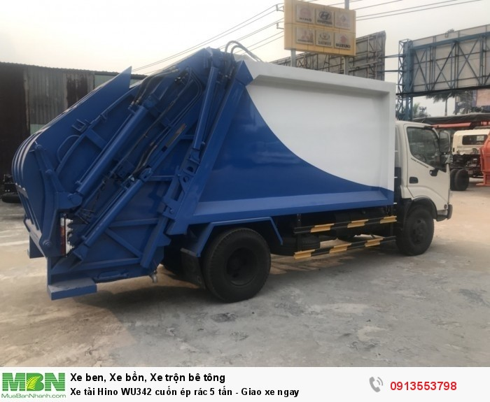 Xe tải Hino WU342 cuốn ép rác 5 tấn - Giao xe ngay - Gọi 0913553798 (24/24)