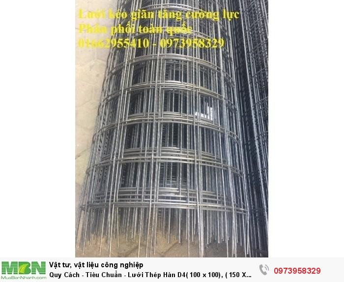 Lưới Thép Hàn  D4( 100 x 100), ( 150 X 150), ( 200 X 200), hàng có sẵn2
