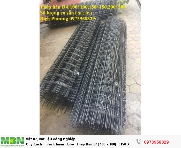 Lưới Thép Hàn  D4( 100 x 100), ( 150 X 150), ( 200 X 200), hàng có sẵn3