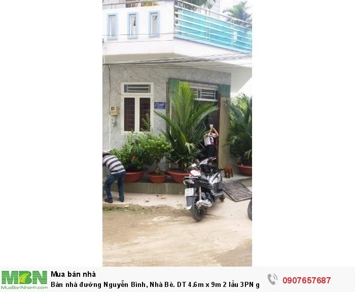 Bán nhà đường Nguyễn Bình, Nhà Bè. DT 4.6m x 9m 2 lầu 3PN
