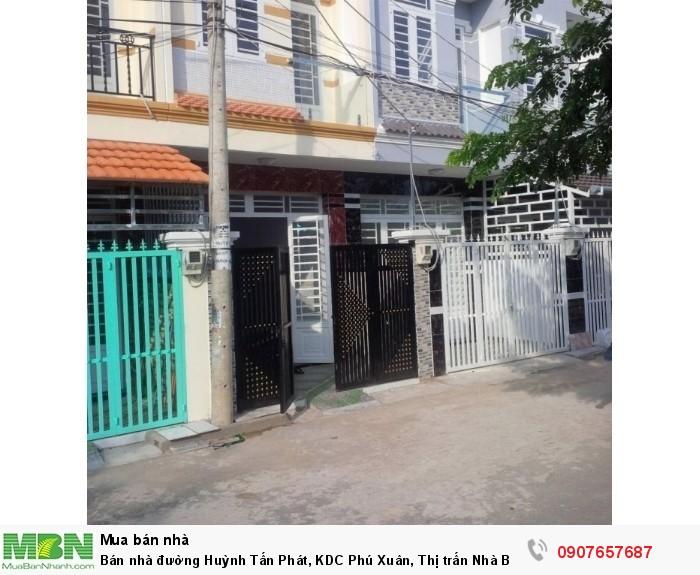 Bán nhà đường Huỳnh Tấn Phát, KDC Phú Xuân, Thị trấn Nhà Bè DT 3.4m x 13m