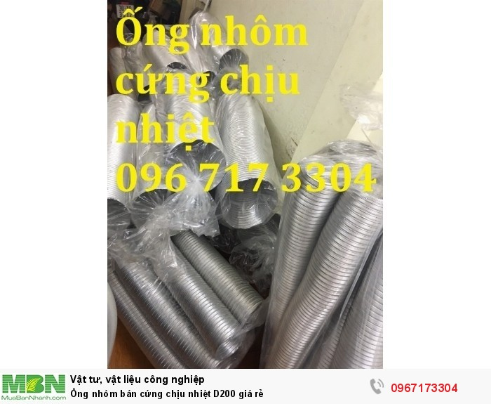 Ống nhôm nhún chịu nhiệt D200 giá rẻ0