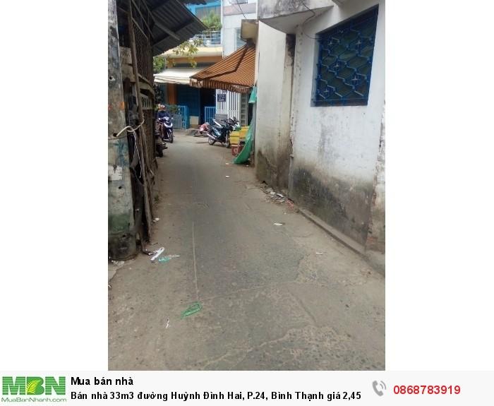 Bán nhà 33m3 đường Huỳnh Đình Hai, P.24, Bình Thạnh