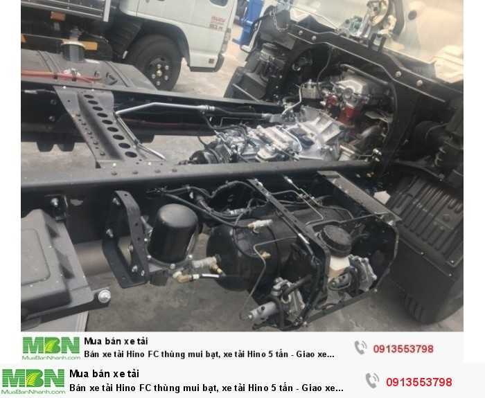Bán xe tải Hino FC thùng mui bạt, xe tải Hino 5 tấn - Giao xe ngay