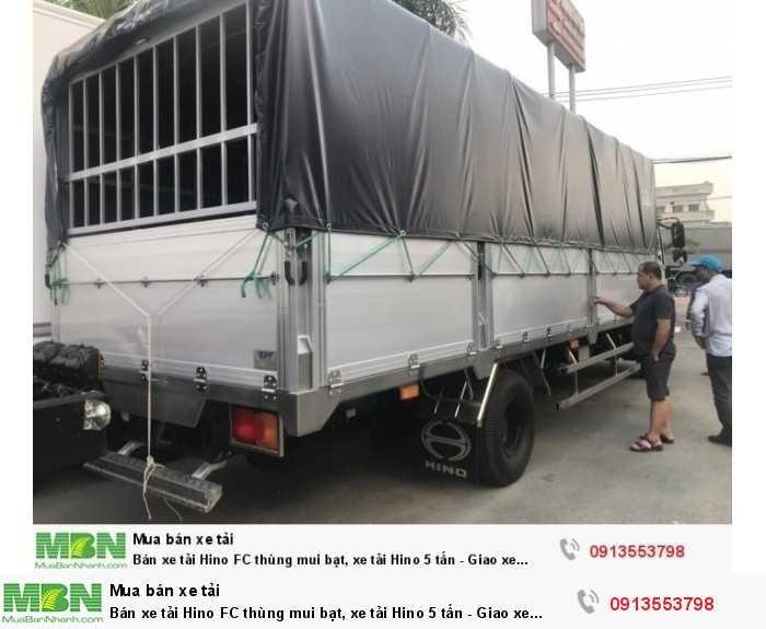 Bán xe tải Hino FC thùng mui bạt, xe tải Hino 5 tấn - Giao xe ngay 2
