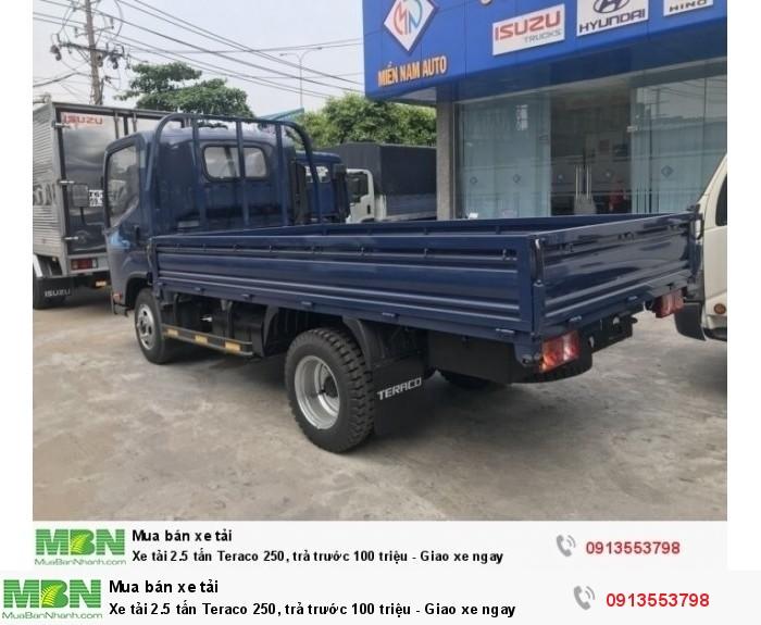 Xe tải 2.5 tấn Teraco 250, trả trước 100 triệu - Giao xe ngay