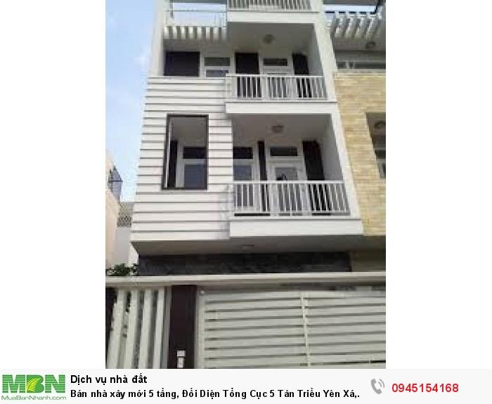 Bán nhà xây mới 5 tầng, Đối Diện Tổng Cục 5 Tân Triều Yên Xá, Thanh Trì, Hà Nội.