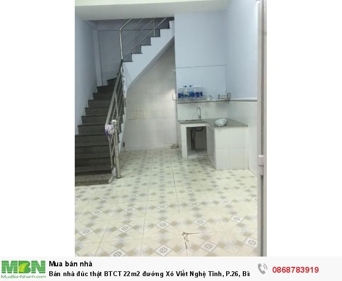 Bán nhà đúc thật BTCT 22m2 đường Xô Viết Nghệ Tĩnh, P.26, Bình Thạnh