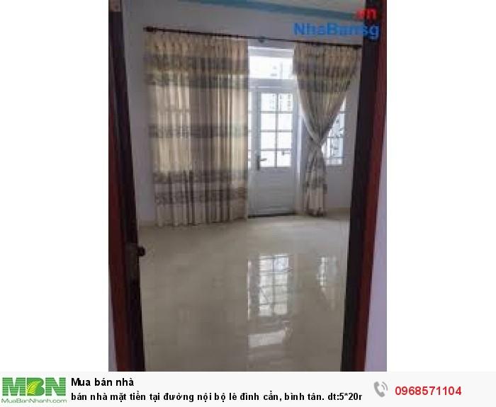 Bán nhà mặt tiền tại đường nội bộ Lê Đình Cẩn, Bình Tân. dt:5*20m 1 trệt 1 lầu