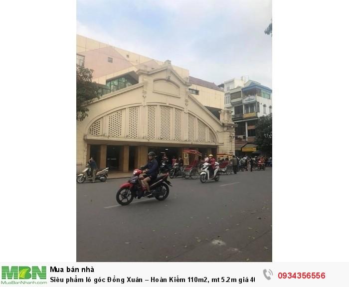 Siêu phẩm lô góc Đồng Xuân – Hoàn  Kiếm 110m2, mt 5.2m giá 40 tỷ(HOT).
