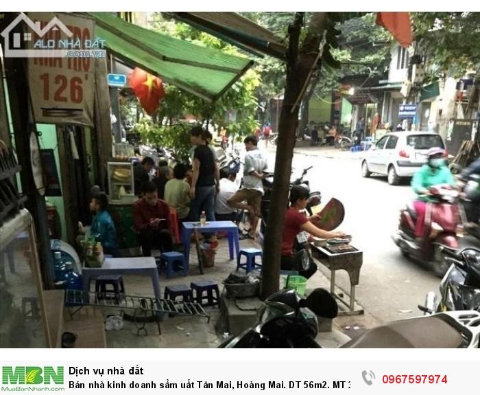 Bán nhà kinh doanh sầm uất Tân Mai, Hoàng Mai. DT 56m2. MT 3,7m. 4,2 Tỷ