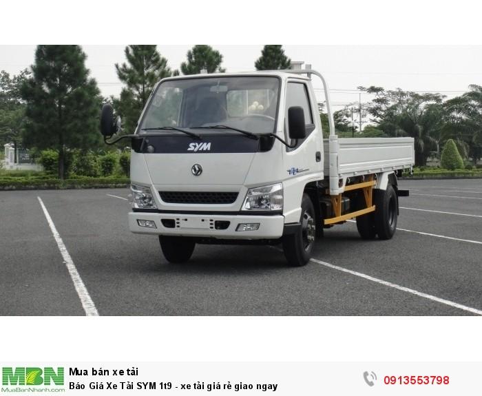 Xe tải SYM 1t9 giá rẻ- Giao xe ngay - Gọi 0913553798 (24/24)