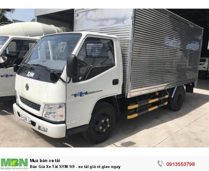 Bán xe tải SYM 2.0T tải trọng 1,9 tấn - Giao xe ngay - Gọi 0913553798 (24/24)