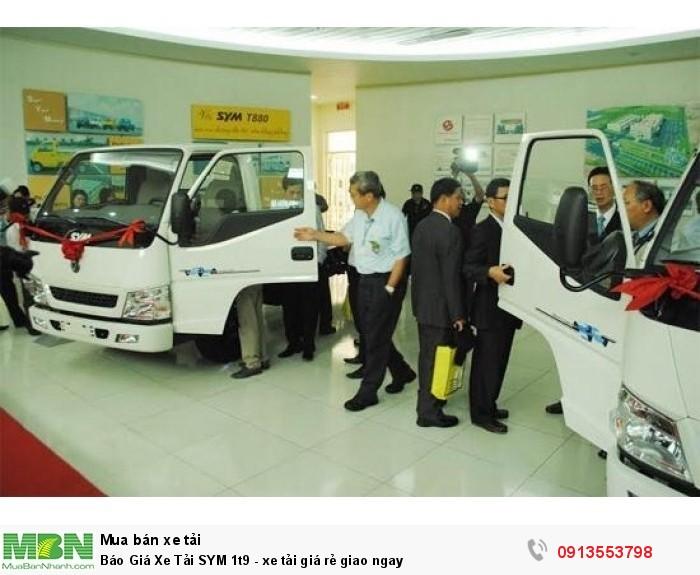Khuyến mãi mua xe tải SYM 1t9 - Giao xe ngay - Gọi 0913553798 (24/24)