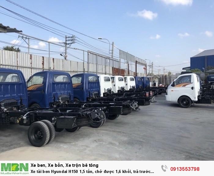 Xe tải ben Hyundai H150 1,5 tấn, chở được 1,6 khối, trả trước 100tr - Giao xe ngay