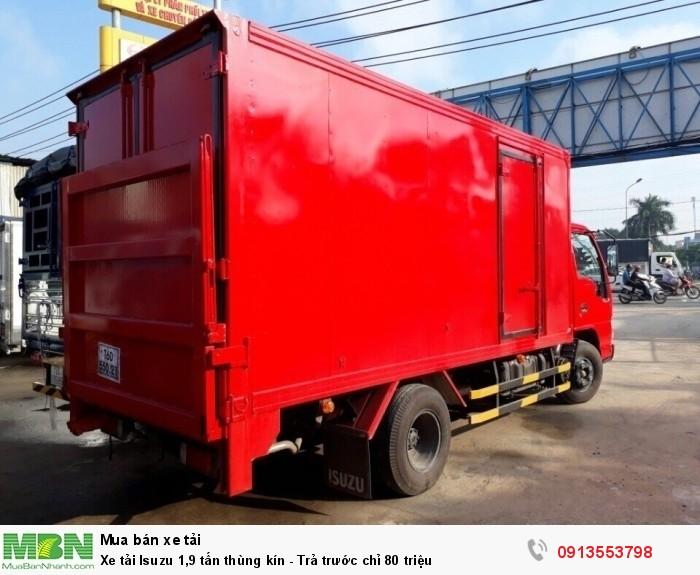 Bán Xe tải Isuzu 1,9 tấn thùng kín - Trả trước chỉ 80 triệu - Giao xe ngay - Gọi 0913553798 (24/24)