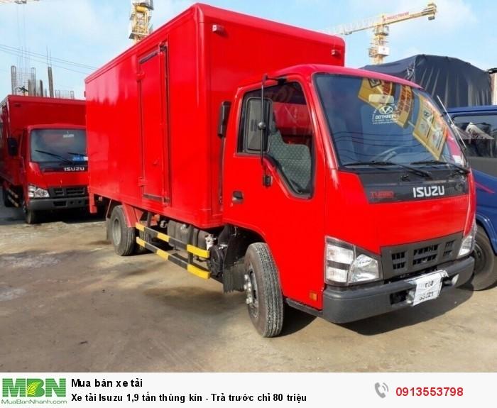 Khuyến mãi mua xe tải Isuzu 1,9 tấn thùng kín - Trả trước chỉ 80 triệu - Giao xe ngay - Gọi 0913553798 (24/24)