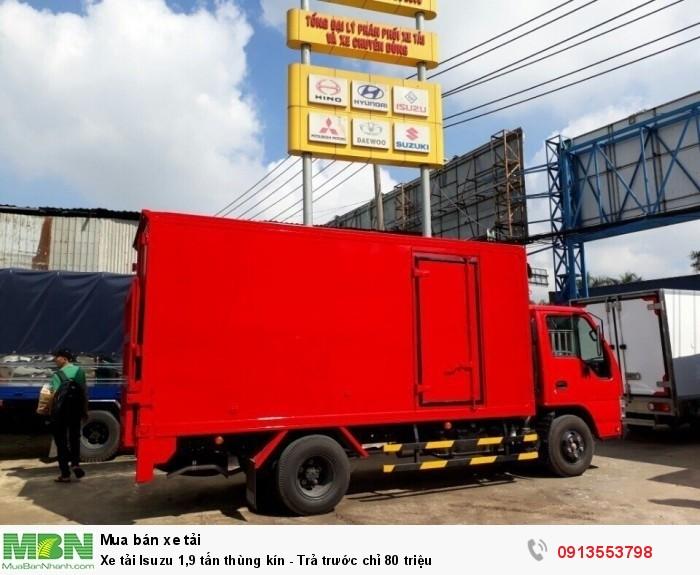 Xe tải Isuzu 1,9 tấn thùng kín - Trả trước chỉ 80 triệu - Giao xe ngay - Gọi 0913553798 (24/24)