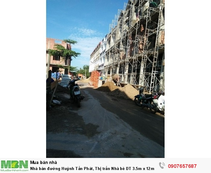 Nhà bán đường Huỳnh Tấn Phát, Thị trấn Nhà bè DT 3.5m x 12m