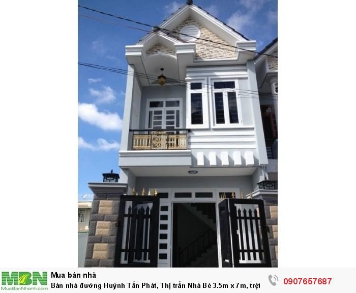 Bán nhà đường Huỳnh Tấn Phát, Thị trấn Nhà Bè 3.5m x 7m, trệt lầu 2PN
