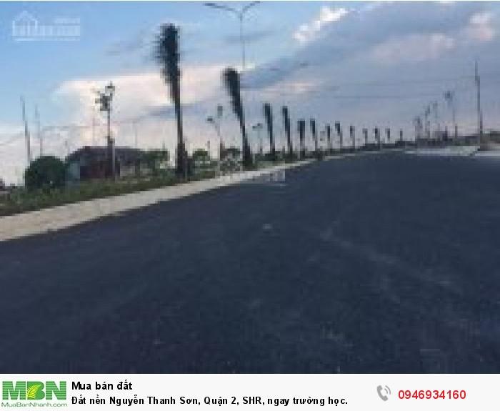 Đất nền Nguyễn Thanh Sơn, Quận 2, SHR, ngay trường học.