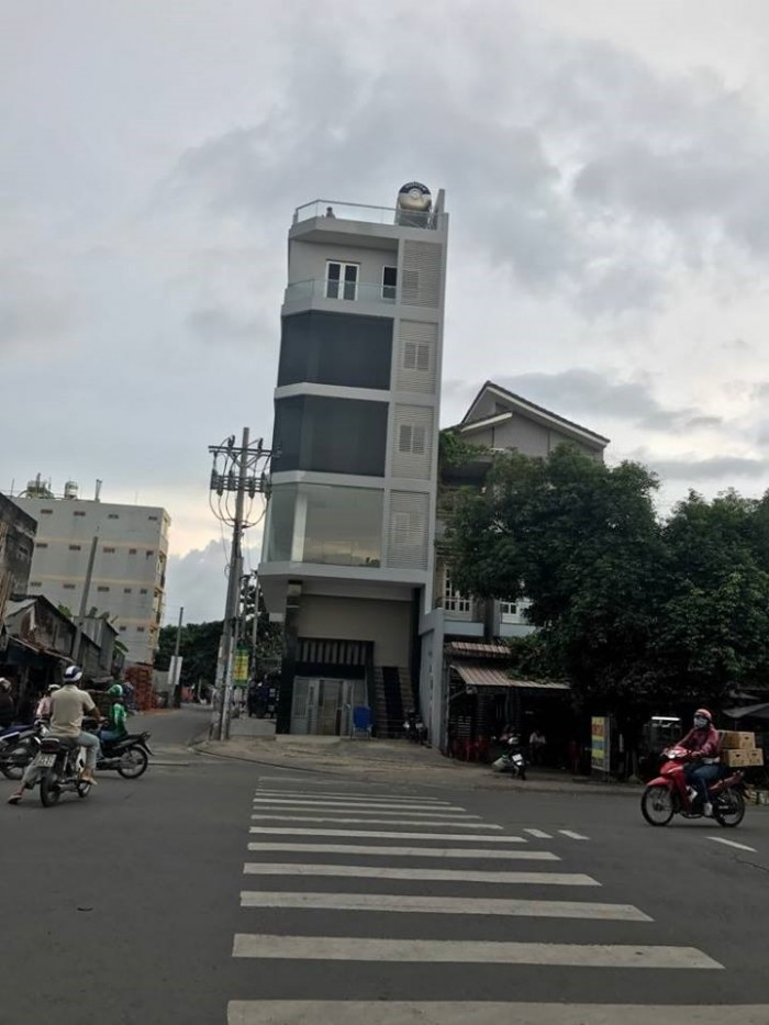 Nhà góc 2 mặt tiền Tây Thạnh, Tân Phú, 7 tầng